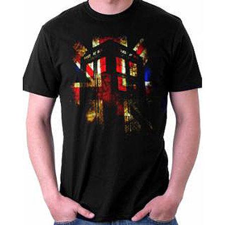 Dr.Who Union Jack Tardis T-Shirt