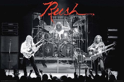 Rush Hemispheres Live Poster