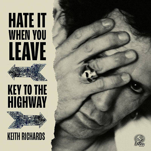 """Keith Richards: Hate It When You Leave/ Key To The Highway 7"""" Red Vinyl"""