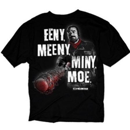 Walking Dead Negan and Lucille T-Shirt Eeny Meeni Miny Moe