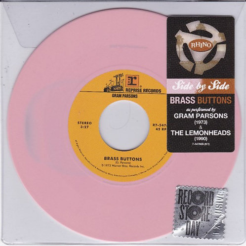 """Gram Parsons/ The Lemonheads: Brass Buttons Side By Side 7"""" 45 RPM"""