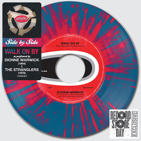 "Dionne Warwick/ The Stranglers: Walk On By 7"" 45 RPM"