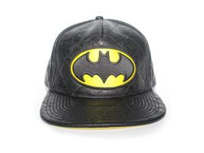Batman Faux Leather Baseball Snap Back Cap