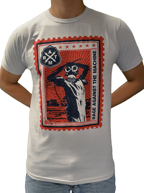 Rage Against The Machine Postage Stamp T-Shirt