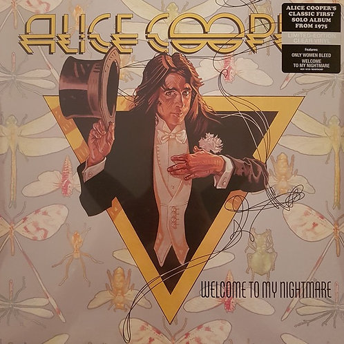 Alice Cooper: Welcome To My Nightmare Clear Vinyl Record