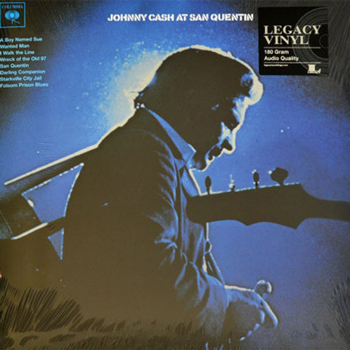 Johnny Cash At San Quentin vinyl record front cover
