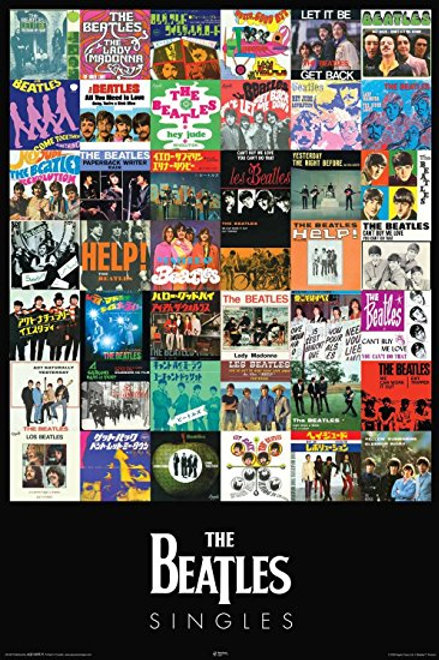 The Beatles Singles Poster