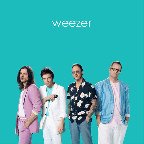 Weezer: Teal Vinyl Record Front Cover