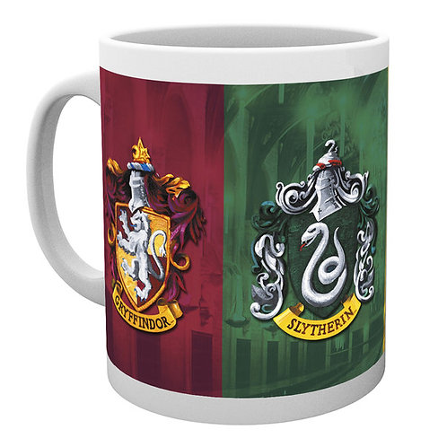 Harry Potter 4 Houses Crest Coffee Mug