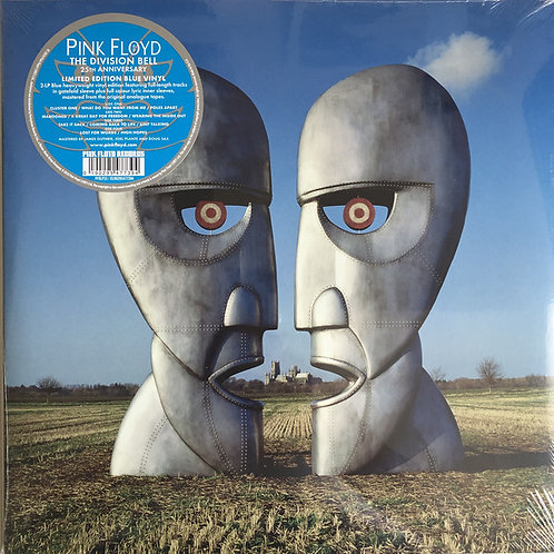 Pink Floyd: The Division Bell 25th Anniversary Blue Vinyl Record front cover