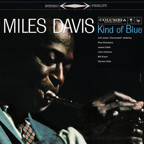Miles Davis: Kind Of Blue Vinyl Record Front Cover