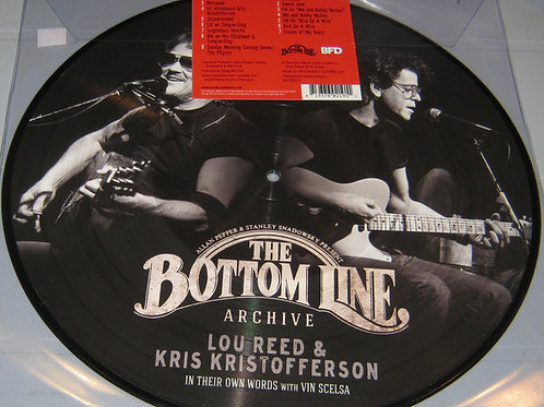 Lou Reed & Kris Kristofferson The Bottom Line Archive Picture Disc RSD