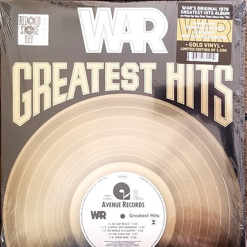 War Greatest Hits Gold Vinyl Record
