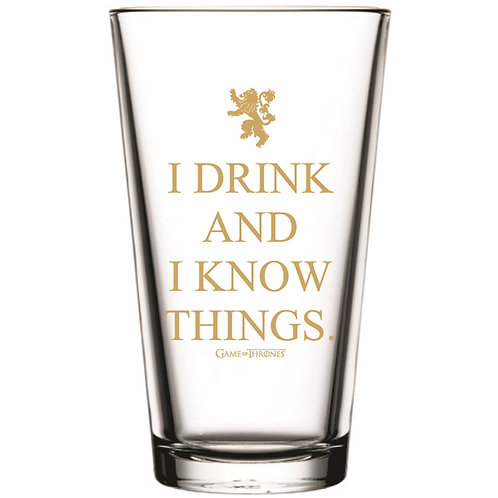 Game Of Thrones I Drink and I Know Things Pint Glass