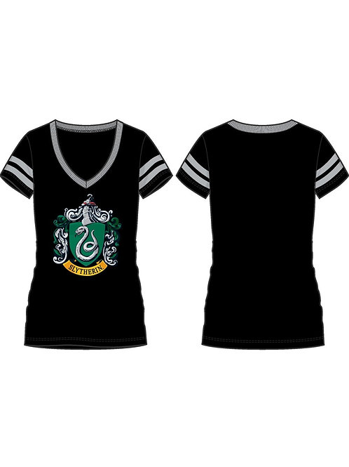 Harry Potter Slythern V-Neck Junior Tee