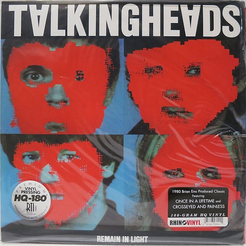 Talking Heads: Remain In Light Vinyl Record Front cover