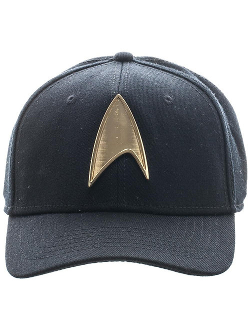 STAR TREK - Metal Badge Black Skate Flex Cap