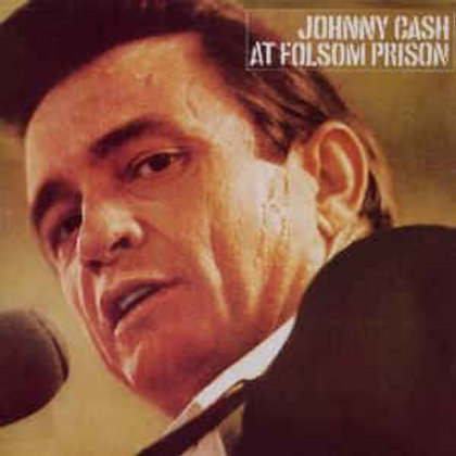 Johnny Cash At Folsom Prison Vinyl Record Front Cover