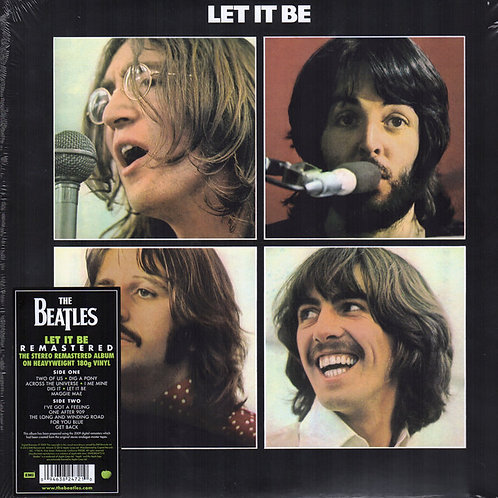 The Beatles: Let It Be Vinyl Record 180gr. Front Cover
