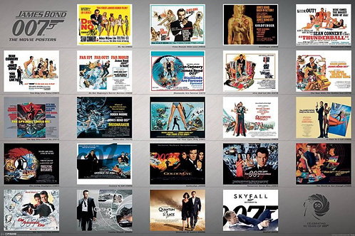 James Bond Movie Poster Celebrating 50 Years of 007