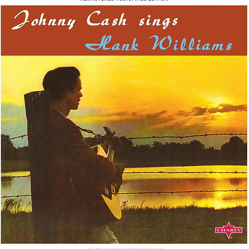 Johnny Cash Sings Hank Williams Orange Vinyl record