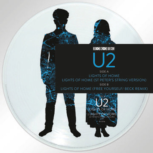 """U2 Lights Of home 12"""" Picture Disc Front cover RSD"""
