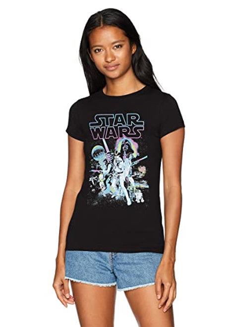 star wars princess a new hope neon junior t shirt