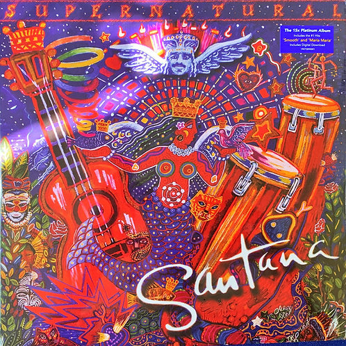 Santana: Supernatural Vinyl Record Front Cover