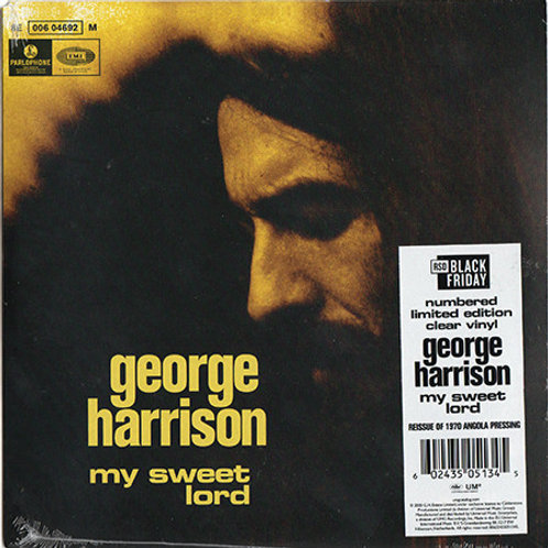George Harrison: My Sweet Lord/ Isn't It A  Pity RSD Clear Vinyl Record