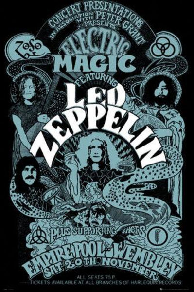 Led Zeppelin: Electric Magic Poster