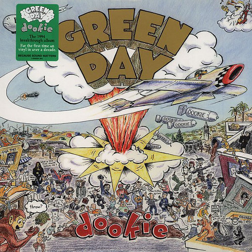 Green Day Dookie Front Cover Vinyl Record