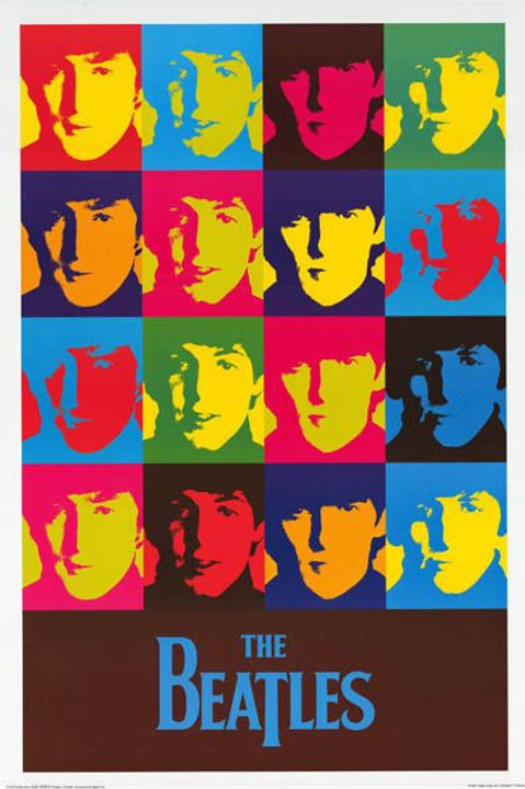 The Beatles: Andy Warhol Collage Painting Poster