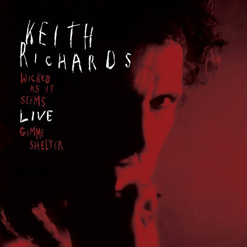 """Keith Richards: Wicxked As It Seems/ Gimme Shelter 7""""  Vinyl Record"""