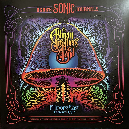 The Allman Brothers Band: Bear's Sonic Journals Fillmore East 1970 FronT COVER