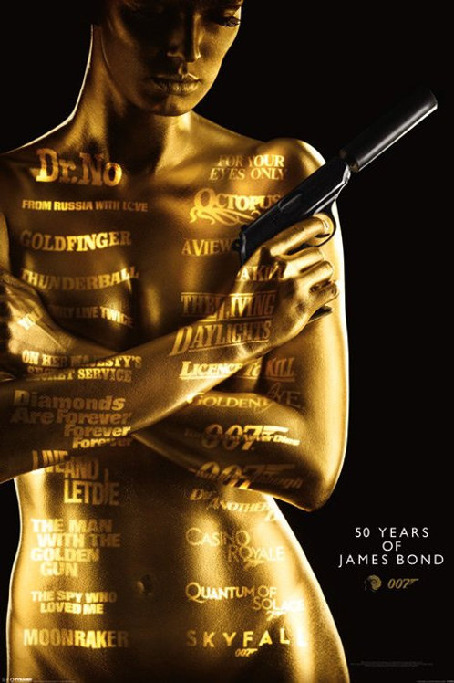 50 Years of James Bond Poster