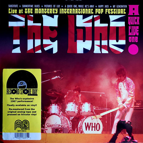 The Who: A Quick Live One At Monterey Pop Festival Record