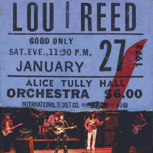 Lou Reed: Live At Alice Tully Hall - January 27, 1973 - 2nd Show Vinyl Record