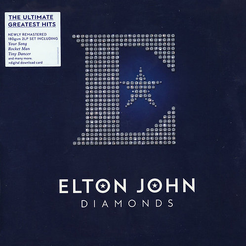 Elton John: Diamonds Vinyl Record Front cover