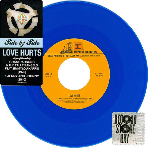 "Gram Parsons/ Jenny and Johnny: Love Hurts  Side By Side7"" 45 RPM"