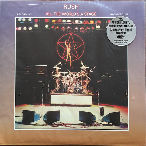 Rush: All The World's A Stage Vinyl Record Front Cover