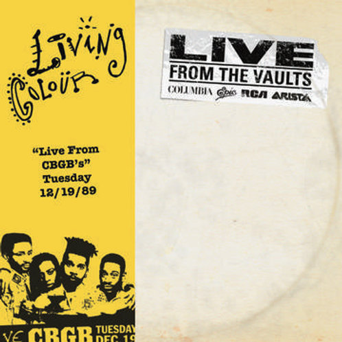 Living Colour Live From The Vaults front cover RSD