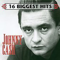 Johnny Cash 16 Biggest Hits Vinyl Record Front Cover
