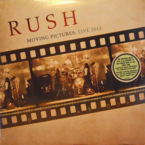 Rush: Moving Pictures Live 2011 180gr Vinyl Record Front cover
