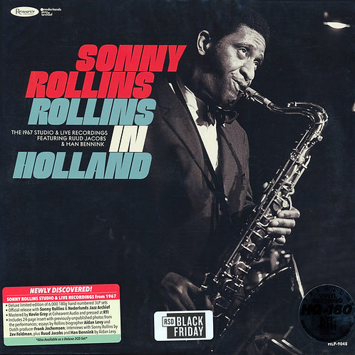 Sonny Rollins: Rollins In Holland Triple Vinyl Record Set