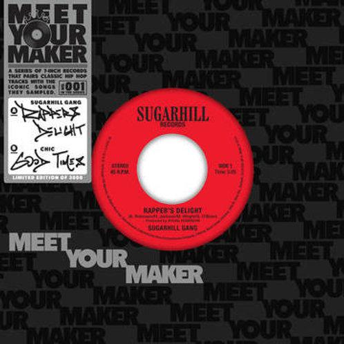 "Sugarhill Gang/ Chic : Rapper's Delight/ Good Times 7"" 45 RPM"