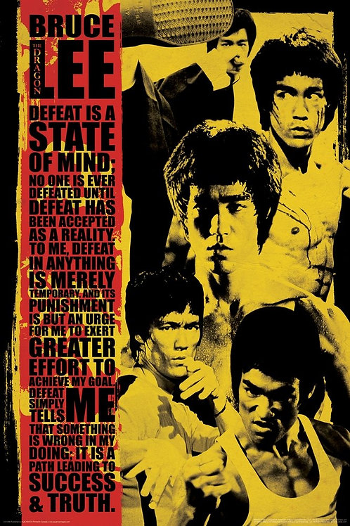 Bruce Lee: Defeat Is A State Of Mind Poster