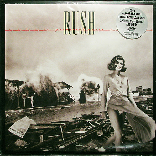 Rush: Permanent Waves Vinyl Record (200gr) front cover
