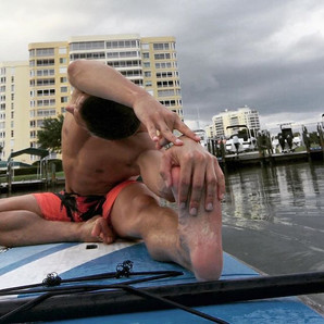 #favorits Out in the water, doing yoga ?
