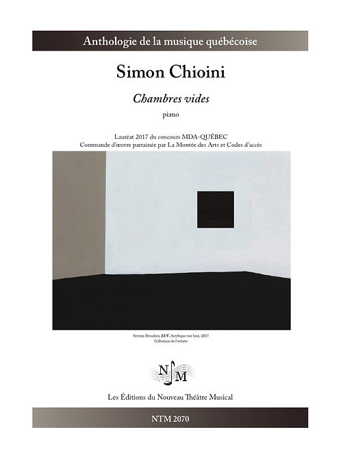 CHIONI, Simon - Chambres vides