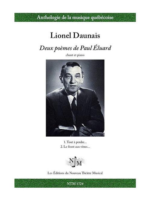 DAUNAIS, Lionel - Deux poèmes de Paul Éluard